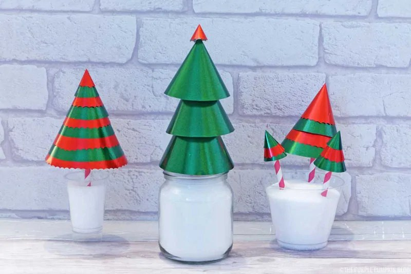 Wrapping Paper Christmas Tree Cones - Step 5