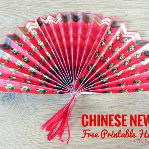 Chinese New Year Free Printable Hand Fans