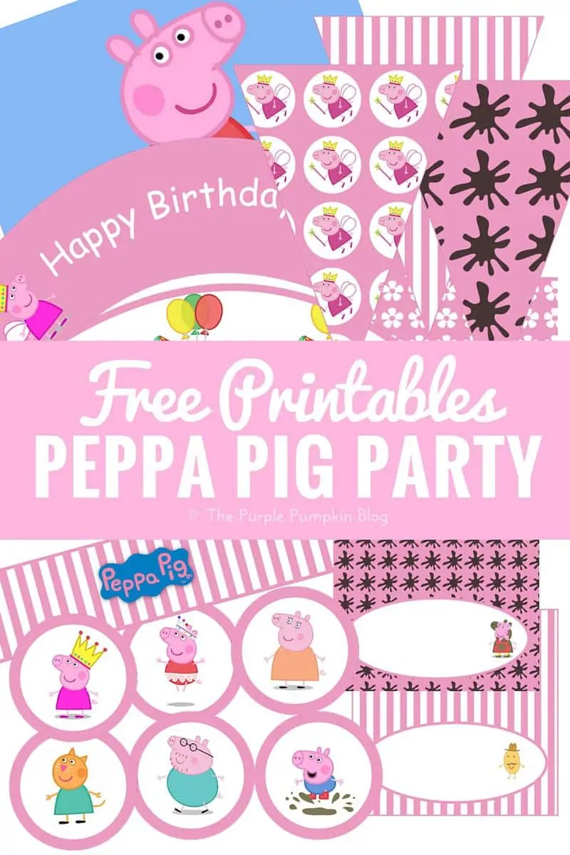 Free Printables for a Peppa Pig Party