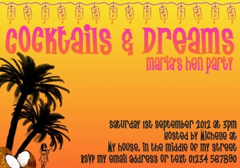 Cocktails & Dreams Party Invitation