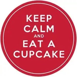 Keep Calm and Eat A Cupcake - Red Cupcake Toppers