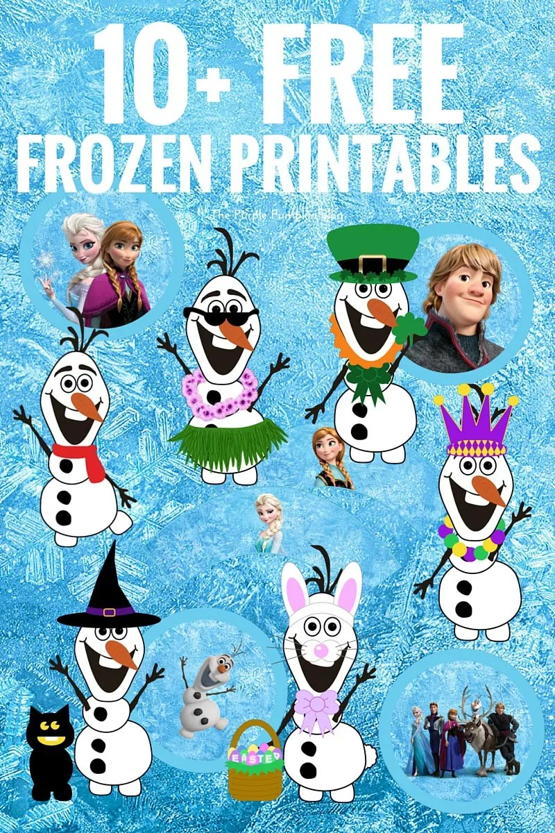 10+ FREE Frozen Printables! Including party printables and build your own Olaf! PLUS tons of other Disney printables too!