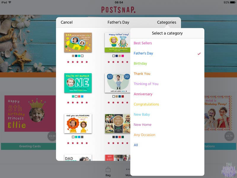 Greetings Cards from Postsnap