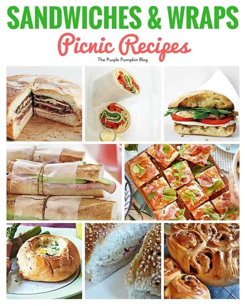Sandwiches + Wraps for a picnic + 42 more picnic recipes!