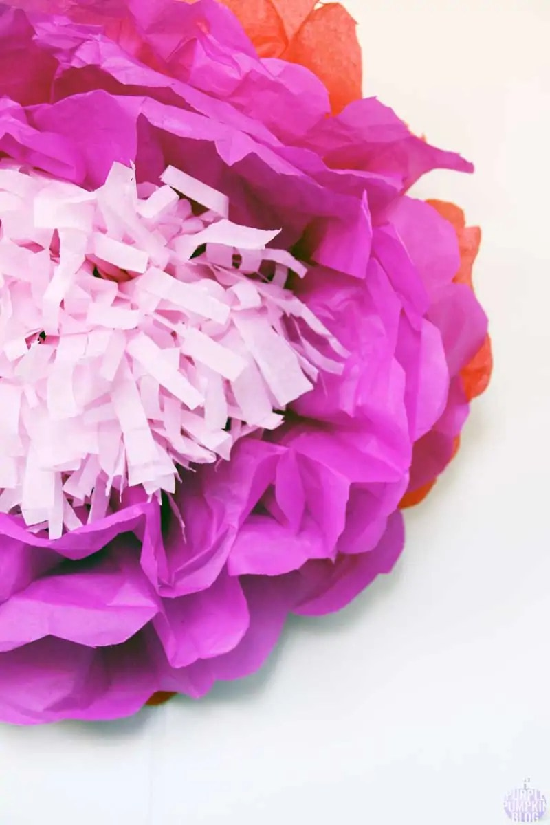 How To Make Tropical Tissue Paper Flowers