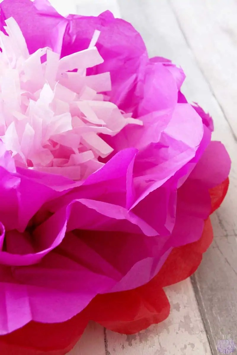Tropical Tissue Paper Flower