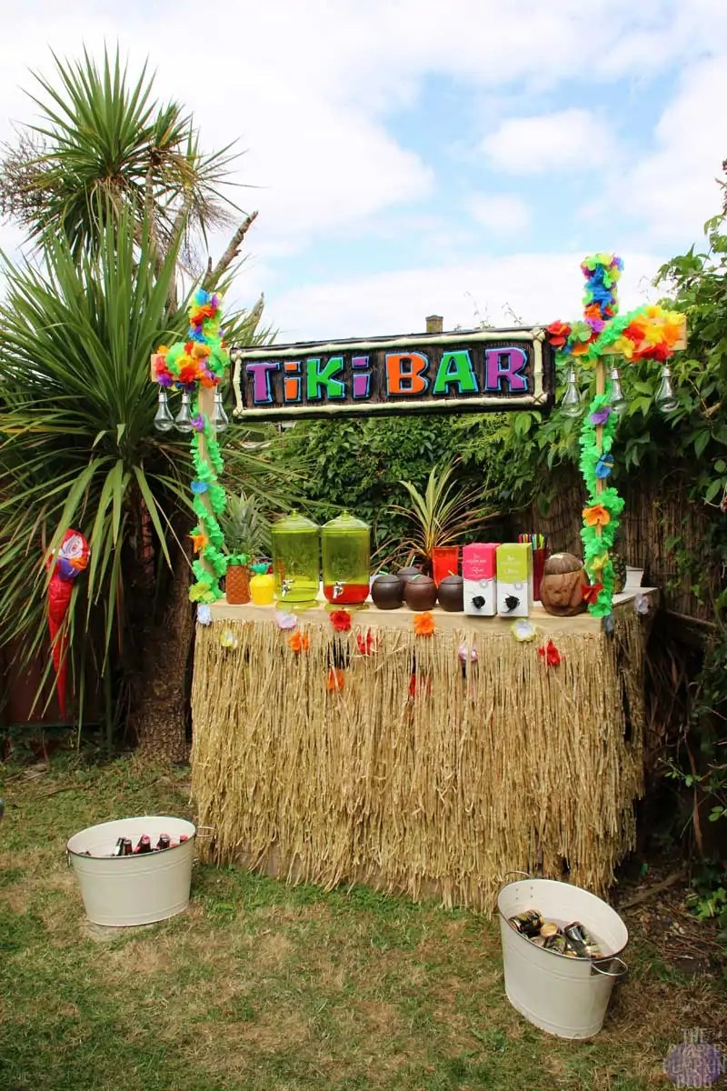 Homemade Tiki Bar