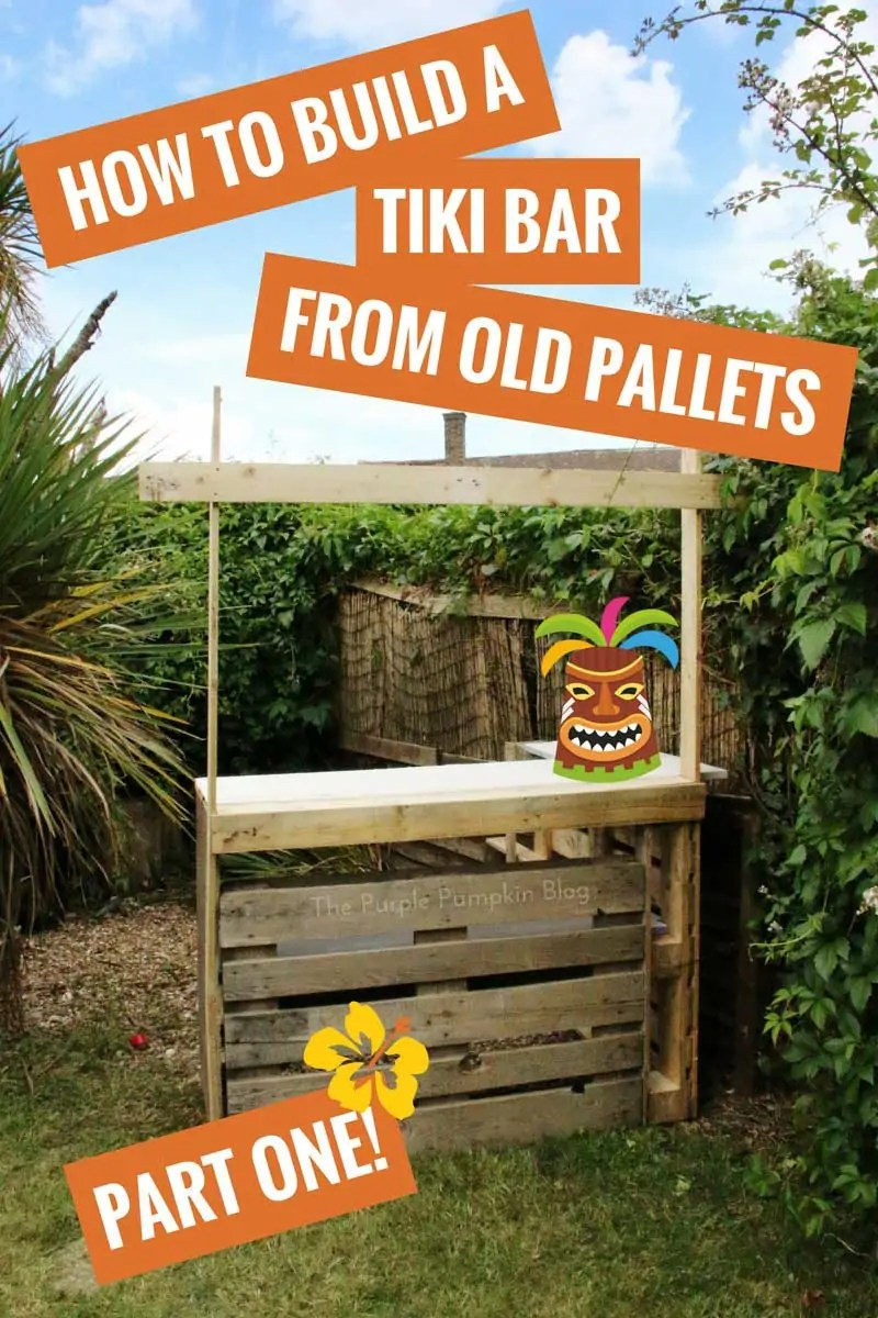 How to build a tiki bar using old pallets hawaiian party for How to build a beach bar