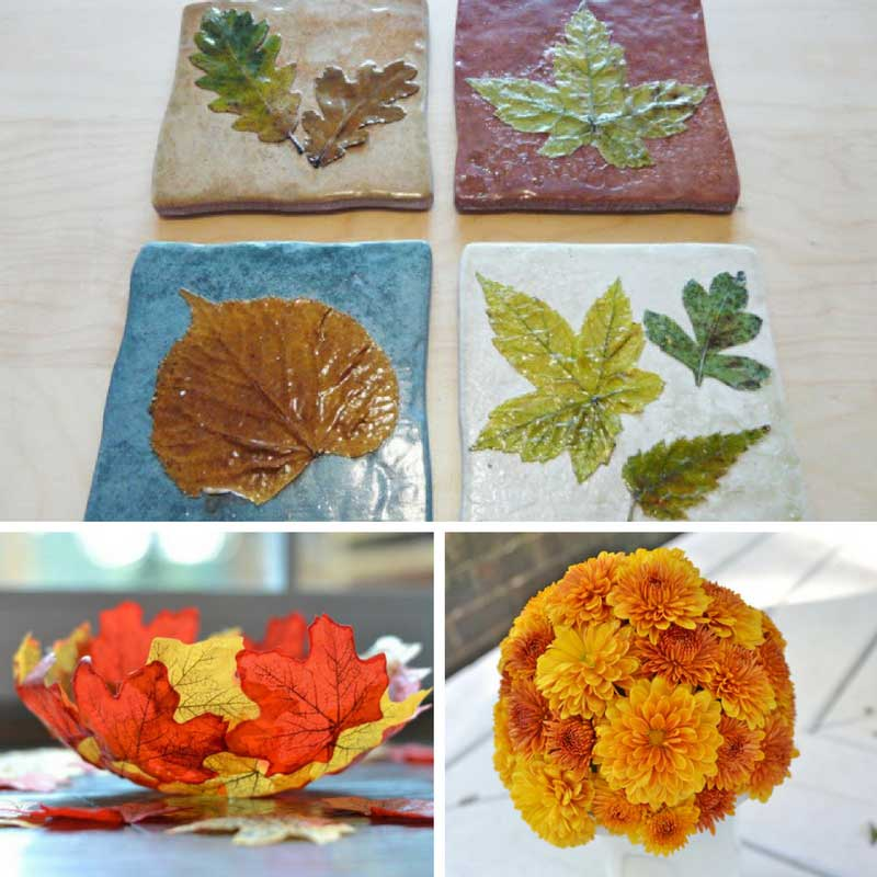 18 autumn crafts for adults for Leaf crafts for adults