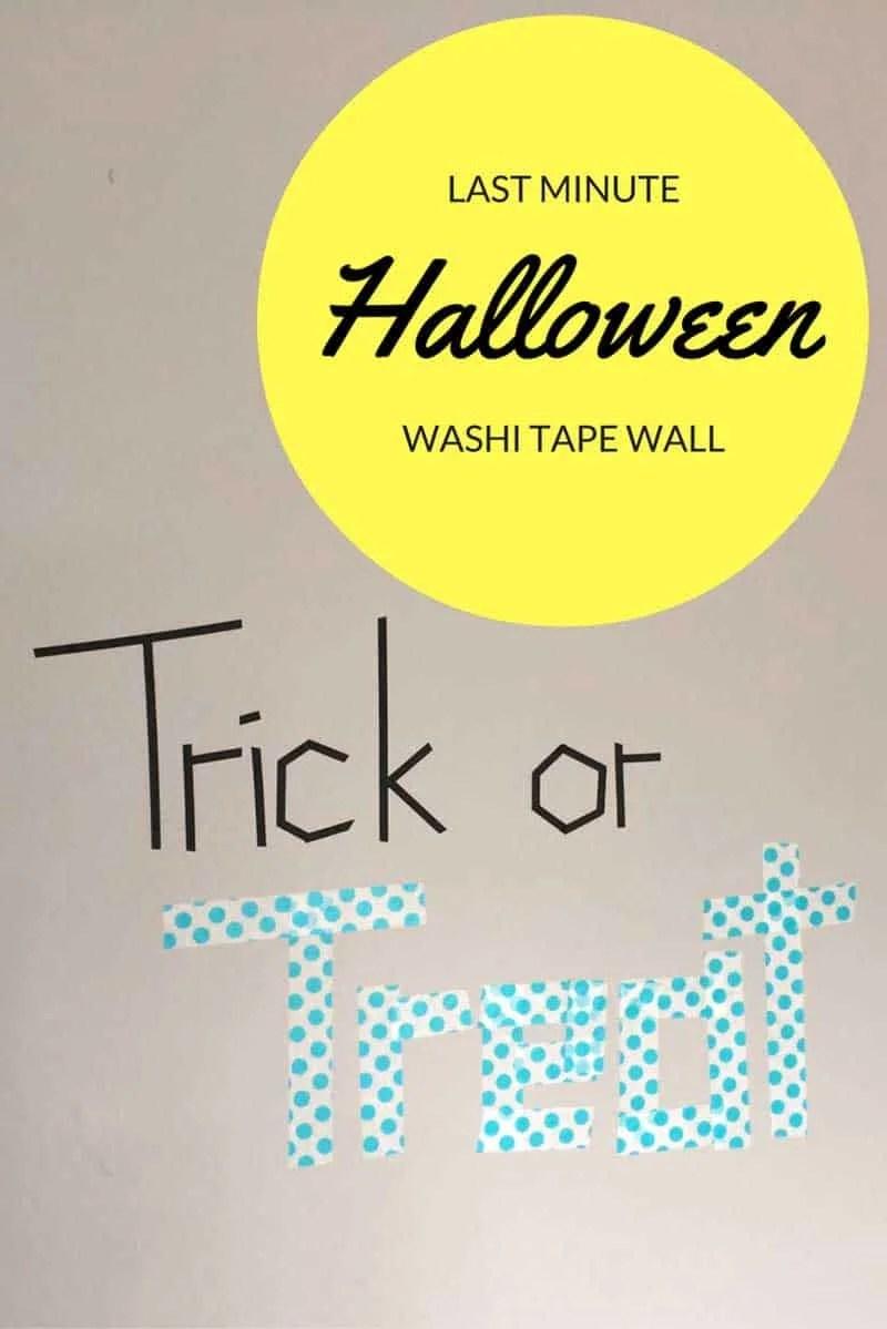 Last minute washi tape Halloween decor