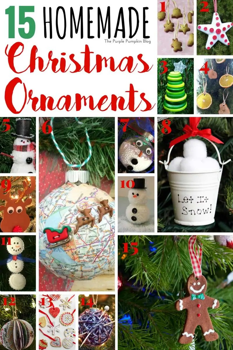 15 Homemade Christmas Ornaments that you can craft and DIY at home