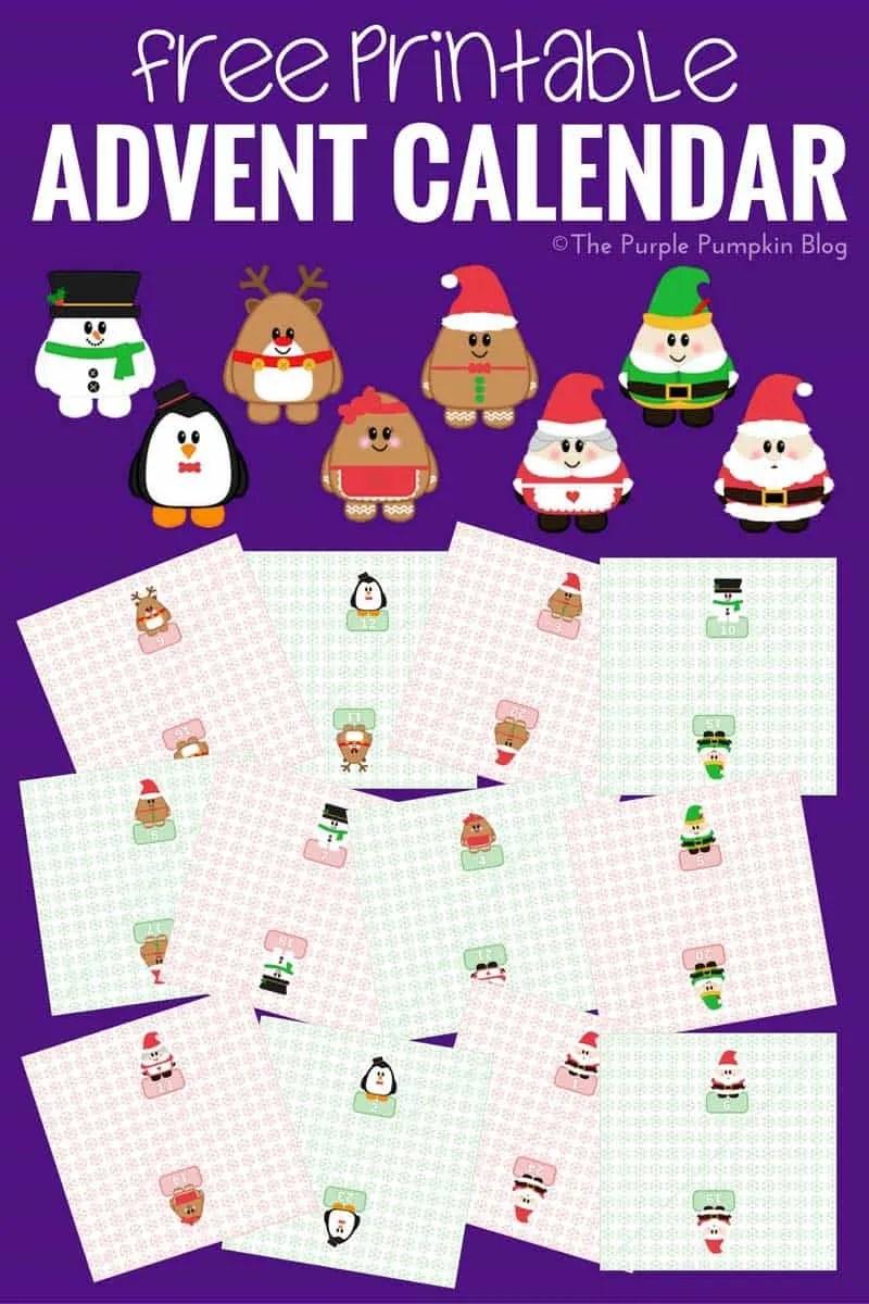 photo relating to Printable Christmas Countdown identified as No cost Printable Arrival Calendar / Xmas Countdown
