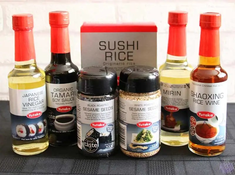 Yutaka products to make sushi at home
