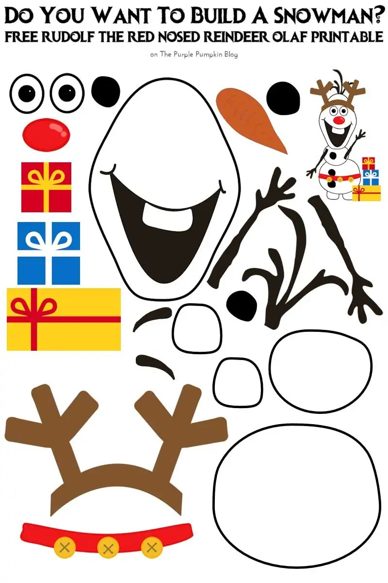 photograph relating to Do You Want to Build a Snowman Printable called Do By yourself Will need In the direction of Acquire A Snowman? Rudolf the Purple-Nosed