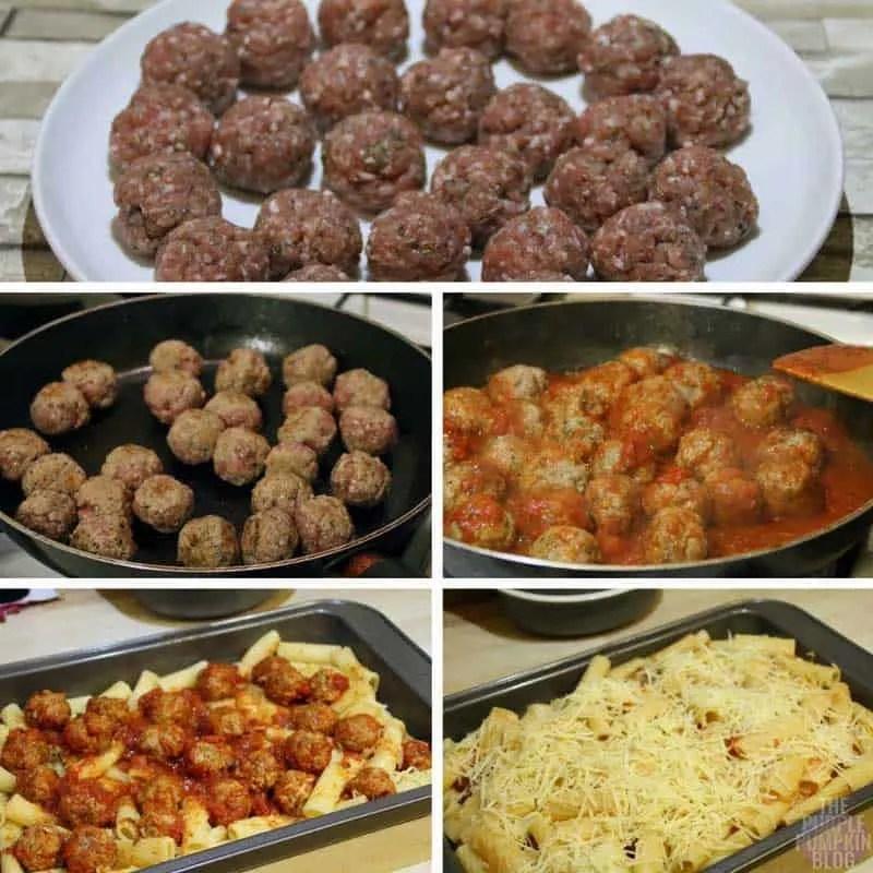 How to make Meatball Pasta Bake