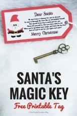 Santa's Magic Key - Free Printable Tag