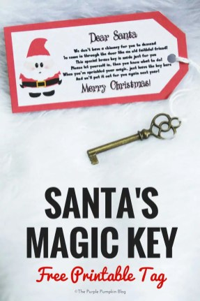 Santa's Magic Key - Free Printable Tag