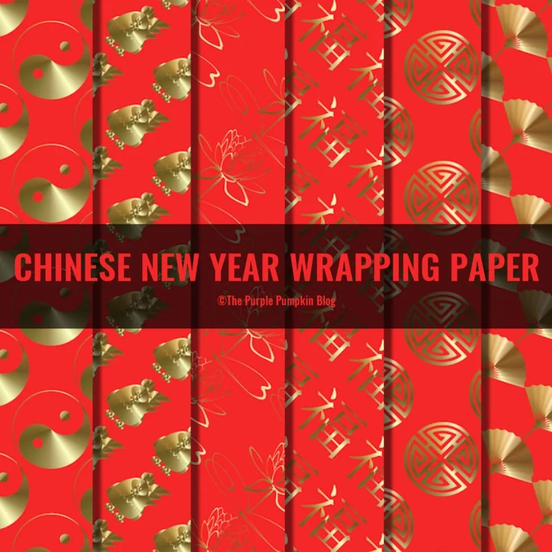 Chinese New Year Wrapping Paper - Free printables in various sizes.