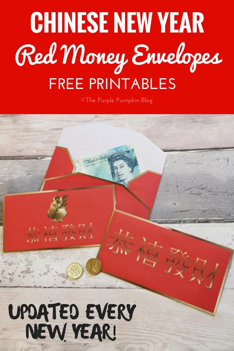 Free Printable! Download, print and make these Red Money Envelopes for Chinese New Year. Give them to loved one to wish a prosperous new year. Updated every new year to reflect the new Chinese Zodiac animal.