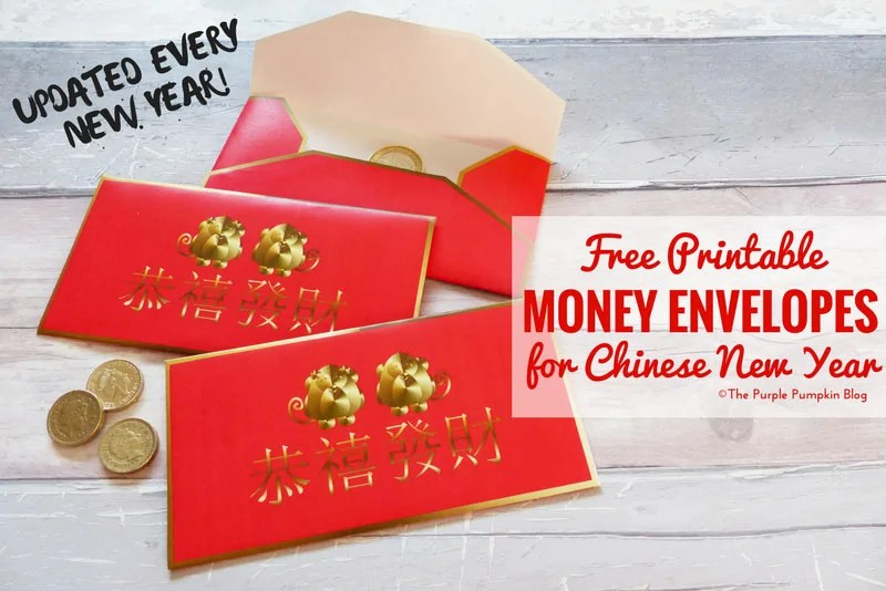 graphic relating to Free Printable Money Envelopes identified as Free of charge Printable Purple Income Envelopes for Chinese Fresh 12 months