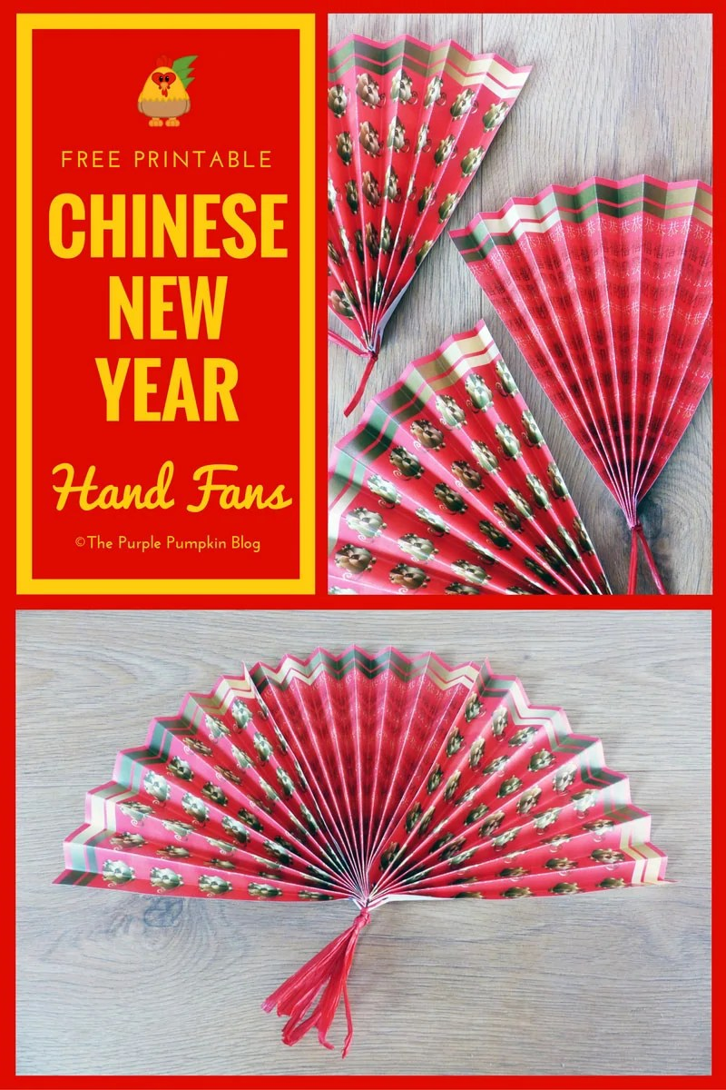 These free printable Chinese New Year paper hand fans are easy to make, and are a fun party favor or table decoration for your Chinese New Year celebrations!