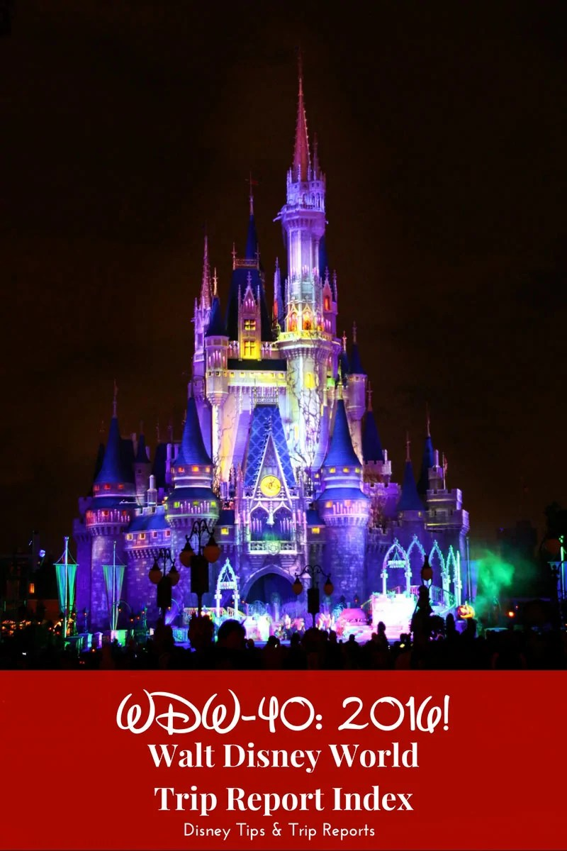 WDW-40: 2016 Trip Report Index