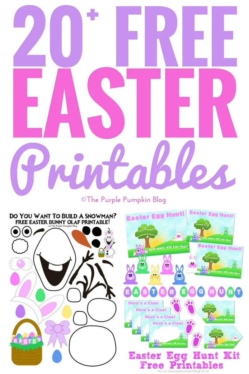 20+ Free Easter Printables - Including a full Easter Egg Hunt Kit, Easter Bunny Olaf, and party printables