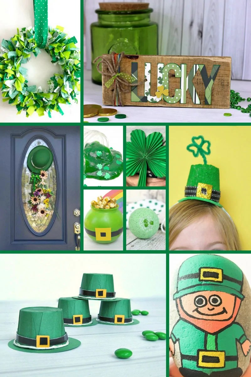 25 Printables & Crafts for St. Patrick's Day! Features a lot of green materials that make a fun selection of crafts! Celebrate St. Patrick's Day with some of these creative ideas including rock painting, paper crafts, and St. Patricks Day house decor.
