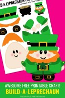 Awesome Free Printable Craft: Build A Leprechaun
