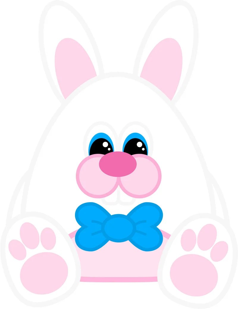 graphic relating to Easter Bunny Printable referred to as Cost-free Printable Easter Bunny Paper Doll Fixed