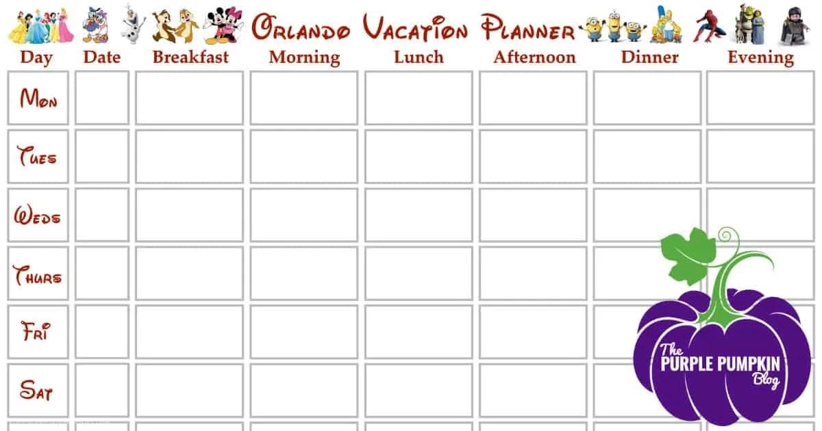Orlando Vacation + Walt Disney World Planner V2.1