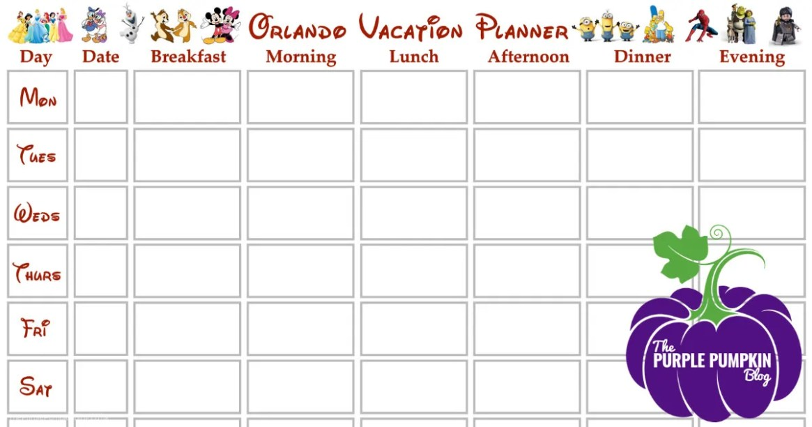 Walt Disney World Planner