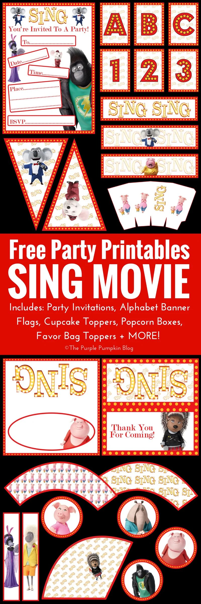 SING Movie Party Printables! Free Printables To Download ...