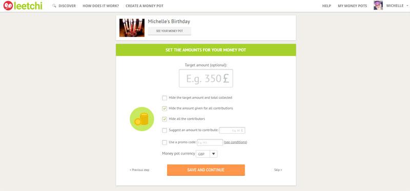 My Leetchi Birthday Money Pot