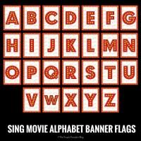 SING Movie Alphabet Banner Flags