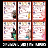 SING Movie Party Invitations