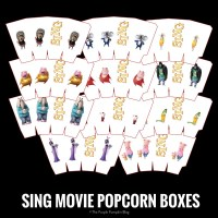 SING Movie Popcorn Boxes