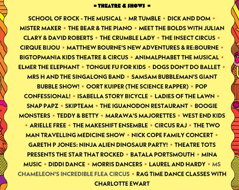 Theatre & Shows at Camp Bestival 2017