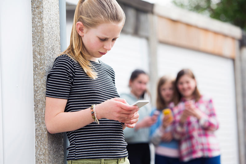 Teen being bullied by text message