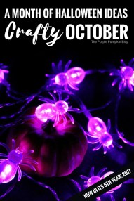 Crafty October 2017 - a month of Halloween ideas, including recipes, party food, crafts, decorations, free printables and more! This series is in its 6th year, so lots of other fun and spooky Halloween stuff to be found in the archives!