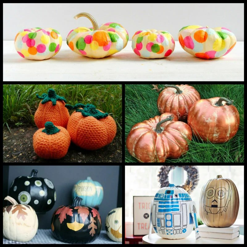 26 Amazing Pumpkin Crafts! So many pumpkin themed crafts in this roundup - some super easy, and some needing a bit more skill, but all fun to do, and amazing to decorate your home with at fall and Halloween!