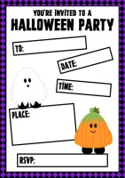 Cute Halloween Party Invitations