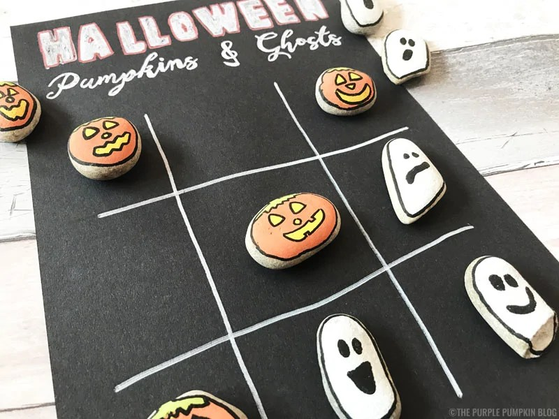 Halloween Stones - Pumpkins & Ghosts