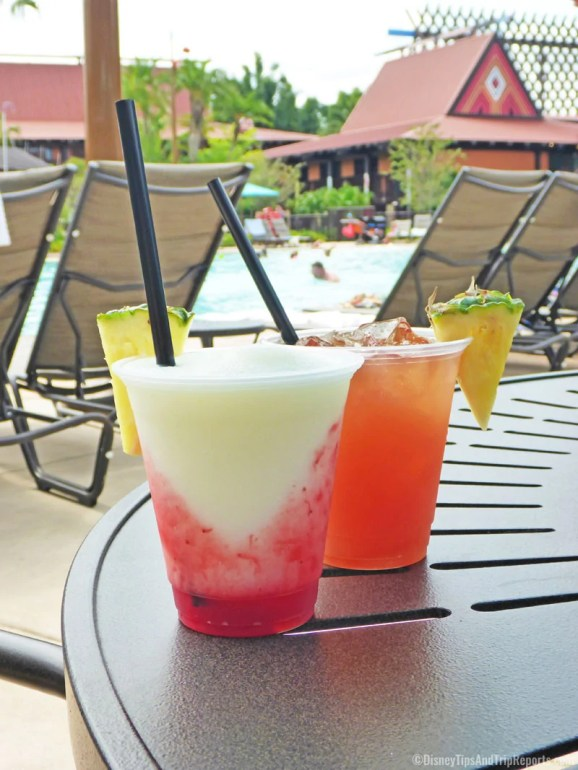 Speciality Cocktails from Oasis Bar & Grill, Disney's Polynesian Village Resort