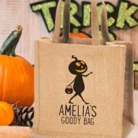 Personalised Trick or Treat Jute Bag