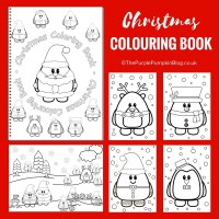 Christmas Colouring Book (A4) A fun colouring book with 16 pages of cute Christmas characters and festive Christmas and winter scenes!
