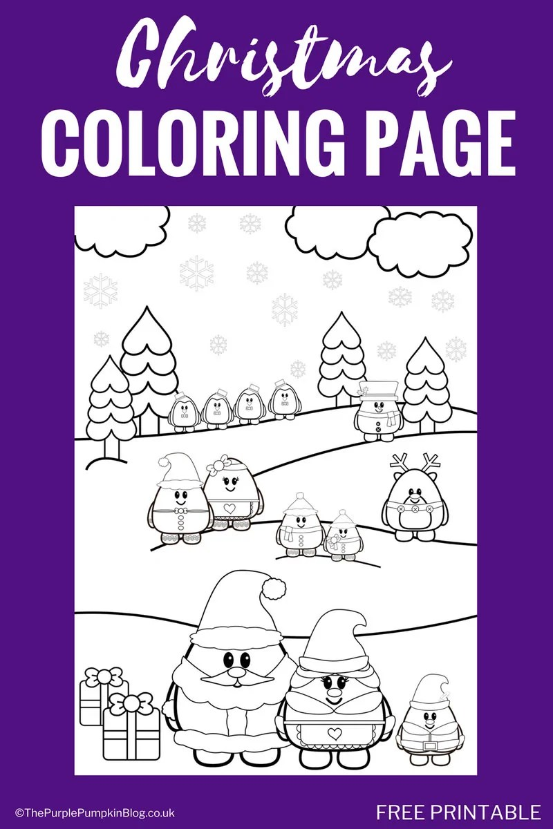 Super cute, free printable Christmas coloring page! Print off at home for the kids to colour while they wait for Christmas! Lots of other awesome free printables on this site, plus they have a store with great value coloring books!