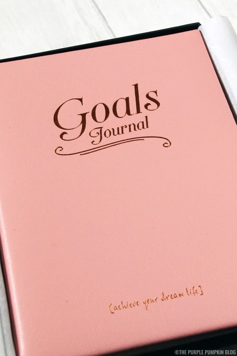 Goals leather notebook