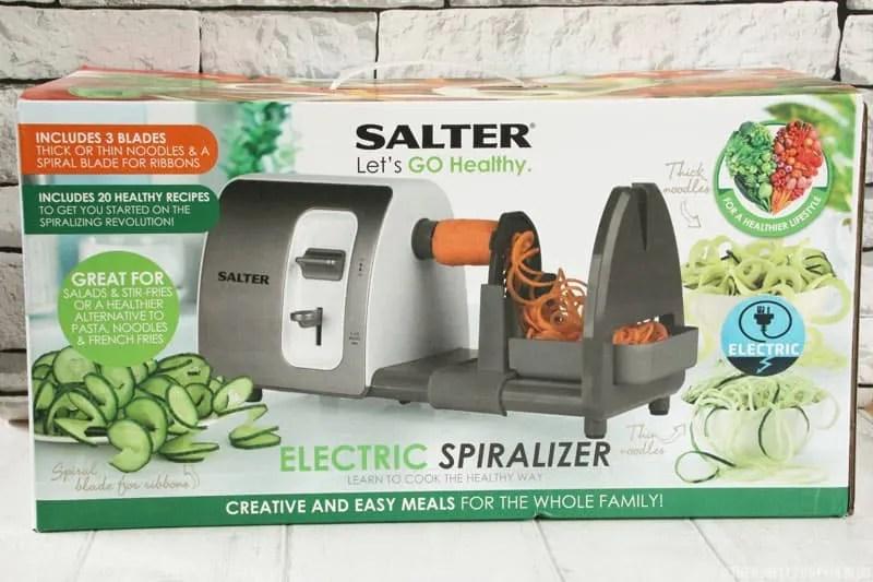 Salter 3 in 1 Side Loading Electric Fruit and Vegetable Spiralizer