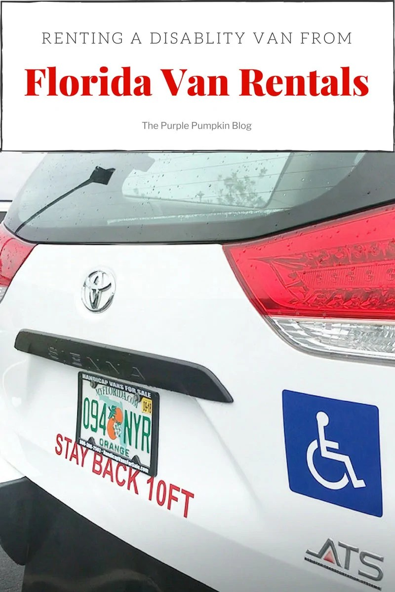 Renting a Disability Van from Florida Van Rentals. If you need to rent a disability vehicle when visiting Orlando, Walt Disney World, Universal Studios etc, read up about Florida Van Rentals in this review